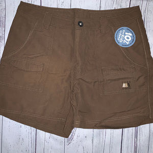 Life is Good Women's Scout Shorts Brown Size 8